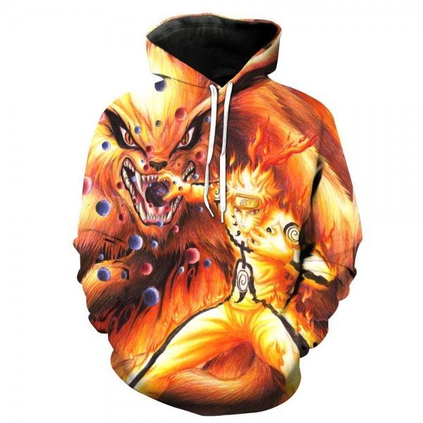 Compre Anime Naruto 3d Imprimir Hoodie Manga Longa Streetwear