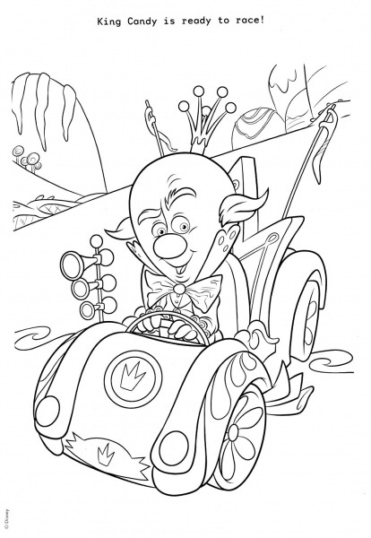 King Candy Coloring Page (wreck