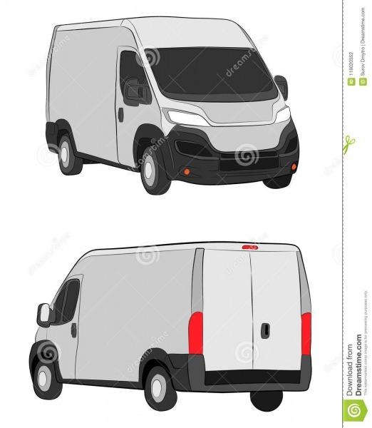 Carga Camionete Caminhão Ilustração Eps Do Desenho Do Vetor Do