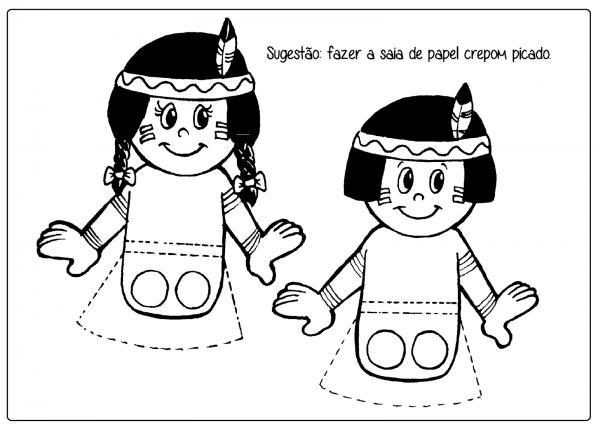 Desenhos Para Colorir E Atividades De Índio — SÓ Escola