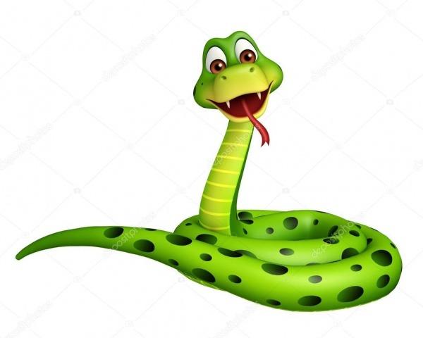 Sentado, Personagem De Desenho Animado De Cobra — Stock Photo