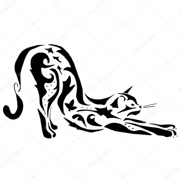 Tatuagem De Gato De Alta Qualidade Ou Desenho Para Colorir
