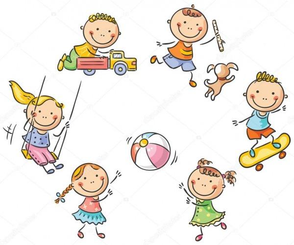 Crianças Brincando Ao Ar Livre — Vetores De Stock © Katerina_dav