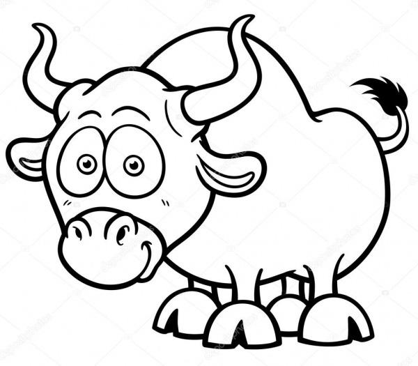 Touro De Desenhos Animados — Vetores De Stock © Sararoom  67118805