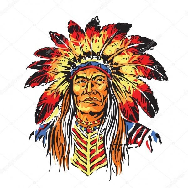 Chefe índio Dos Desenhos Animados — Vetores De Stock © Gagu  77995618