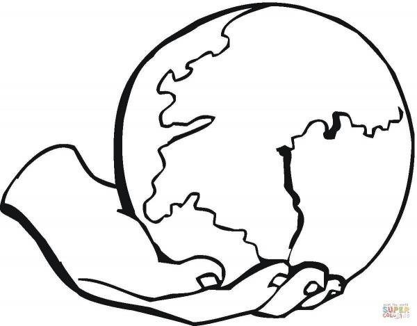 Desenho De Amor à Terra Para Colorir – Pampekids Net