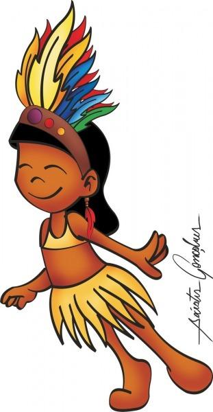Dibujos Ideia Criativa  Desenho De Índia Colorido