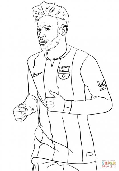 Desenho De Neymar Para Colorir – Pampekids Net
