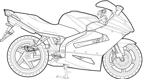 Desenho Para Colorir Moto – Pampekids Net