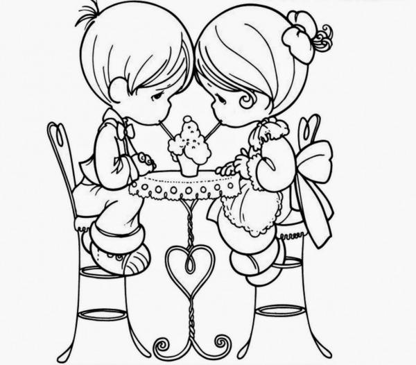 Desenhos Para Colorir De Namorados – Pampekids Net