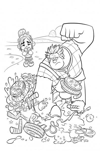 Desenhos Para Colorir De Detona Ralph No Jogos Online Wx