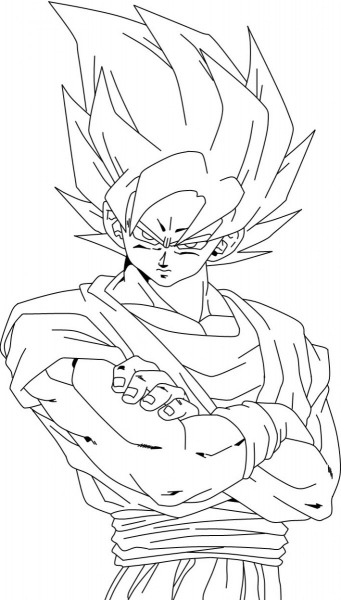 Desenhos Para Colorir Do Goku – Pampekids Net