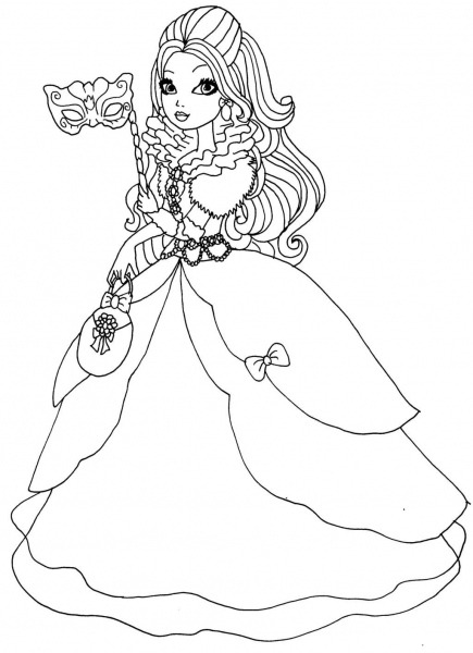 Ever After High Apple White Coloring Pages Apple White