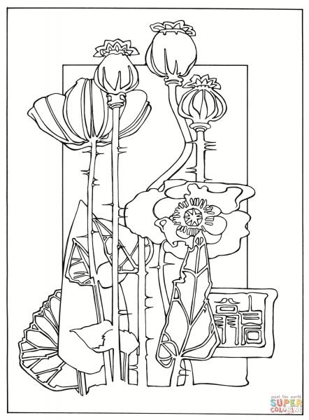 Desenho De Gravura De Flores Para Colorir