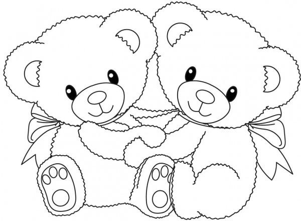 Desenhos Para Colorir De Ursinhos Fofinhos – Pampekids Net