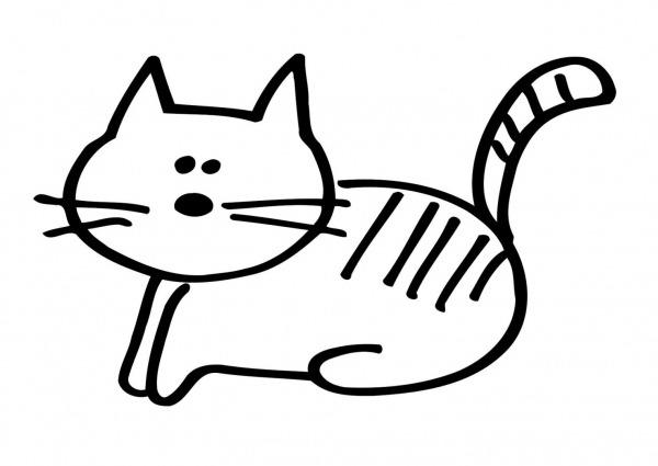 Desenho Para Colorir De Gato – Pampekids Net