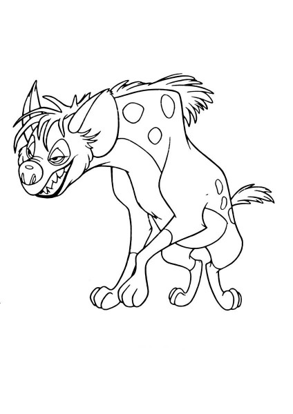 Desenho De Hiena Do Rei Leão Para Colorir