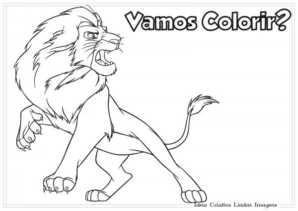 Desenhos Para Colorir Do Rei Le O – Pampekids Net