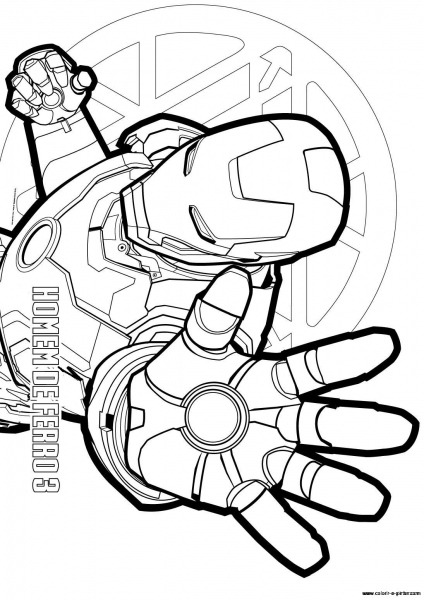 Jogos De Colorir Homem De Ferro – Pampekids Net