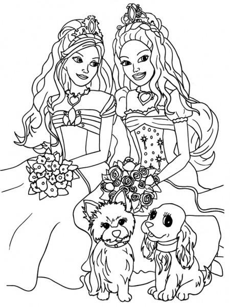 Barbie Para Colorear, Pintar E Imprimir