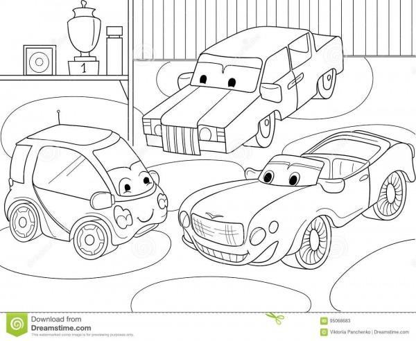 Livro Para Colorir Dos Desenhos Animados Das Crianças Para Meninos