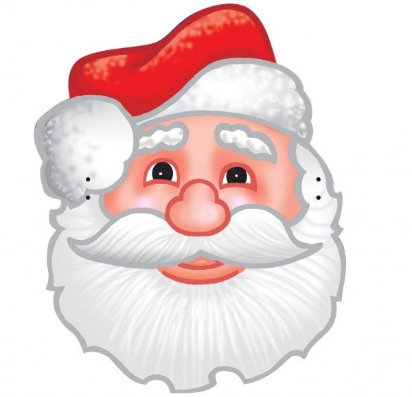 Máscaras De Papai Noel Coloridas Para Imprimir!
