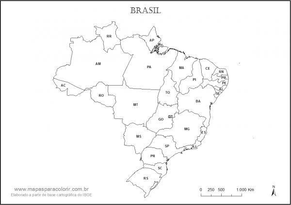 Mapas Do Brasil Para Colorir E Imprimir – Pampekids Net