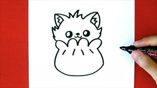 Como Desenhar Um Gato Fofo