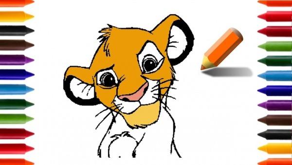 Aprendendo A Desenhar E Colorir Simba Rei Leão