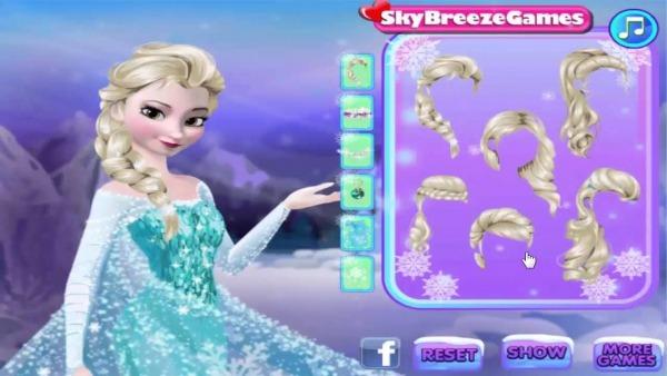 Jogo Da Princesa Elsa Do Filme Frozen E Da Princesa Sofia