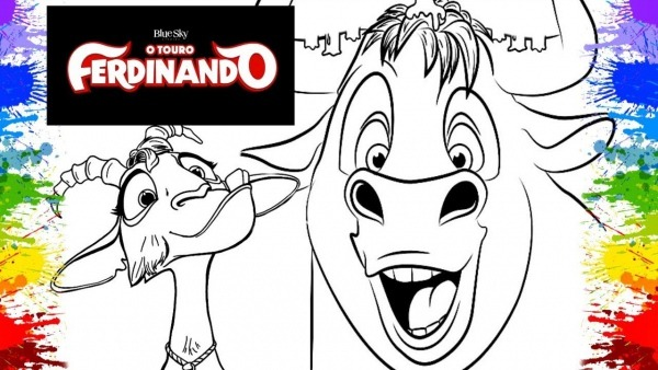 Colorir Touro Ferdinando Desenho Filme Ferdinand 2018 Cartoon Para