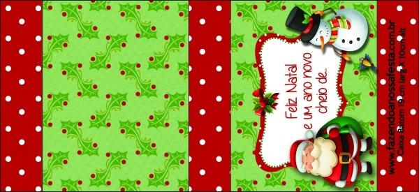 Molde Caixa Baton Papai Noel