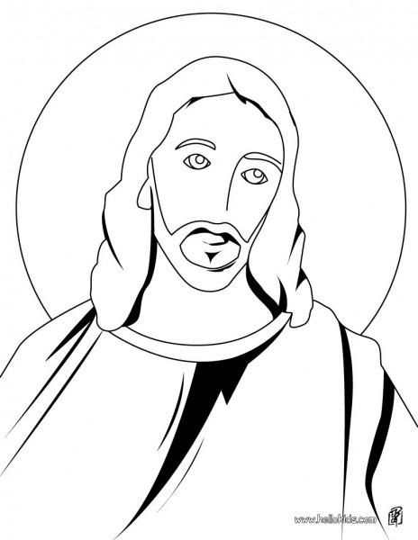 Rosto De Jesus Cristo Para Colorir – Pampekids Net