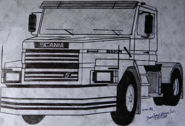 Dtkp Artes  Desenho Caminhão Scania 112