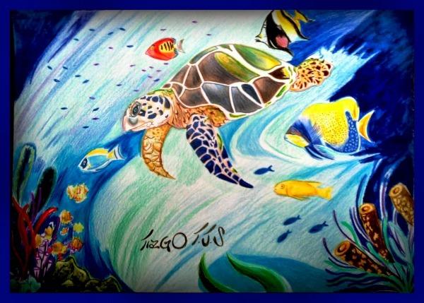 Tiago Tjs Desenhos  Desenho Tartaruga Marinha  Por  Tiago Tjs