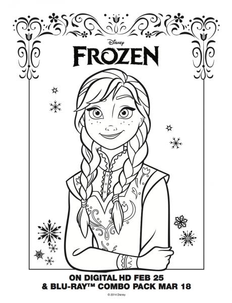 Anna Coloring Sheet  Frozen