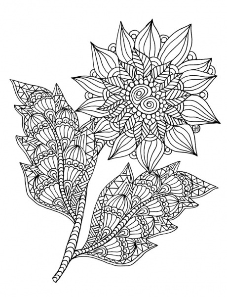 Desenhos De Girassol Mandala Para Colorir E Imprimir