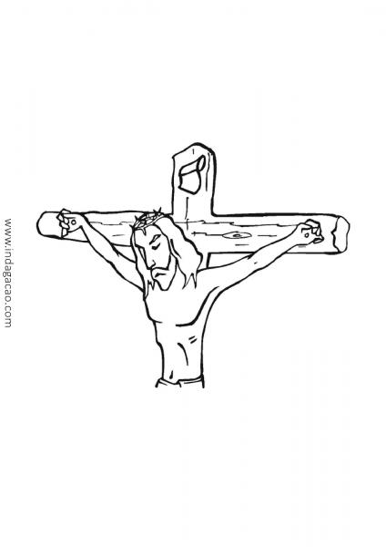 Desenho Jesus Na Cruz Para Colorir Baixar