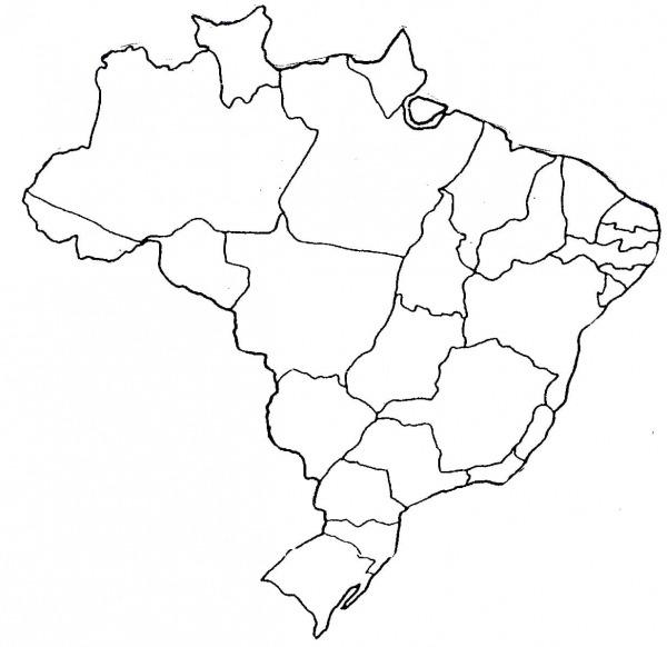 Mapa Do Brasil Colorido Para Imprimir