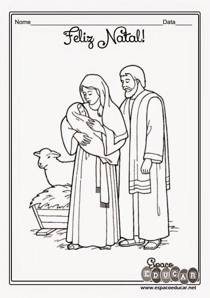 EspaÇo Educar  Desenhos Do Nascimento De Jesus Para Colorir