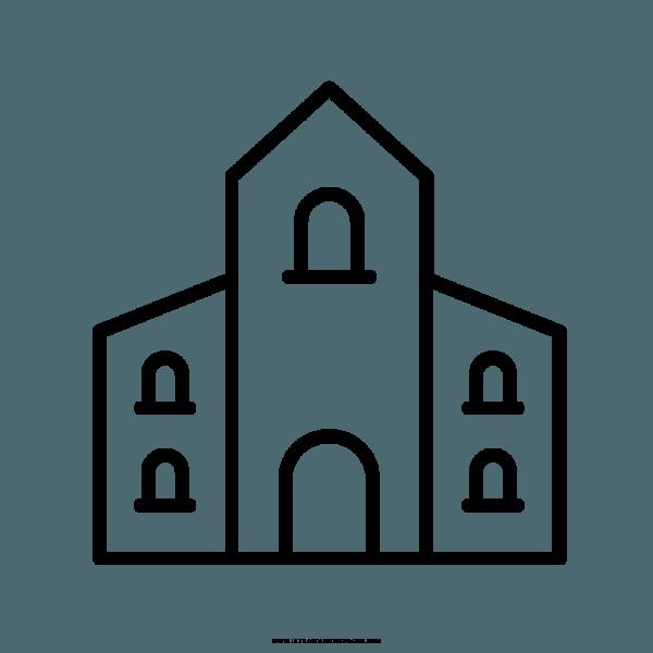 Igreja Desenho Para Colorir – Coloring City