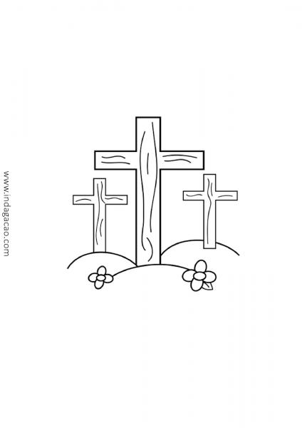 Desenho De Cruz Para Colorir Baixar