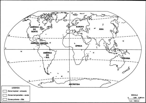 Geografia Fundamental  RegionalizaÇÃo Pelas Zonas ClimÁticas Da