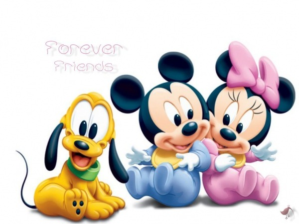 Baby Minnie And Mickey Mouse And Puppy Pluto  3