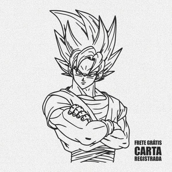 Adesivo Dragon Ball Goku Infantil Desenho Animado 35cm A580