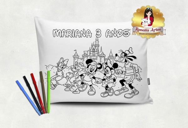 Almofada Para Colorir Mickey E Sua Turma – Renata Artes