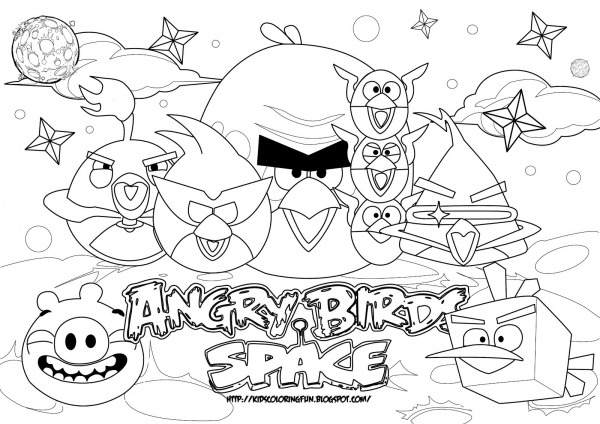 Angry Birds Para Colorir E Imprimir