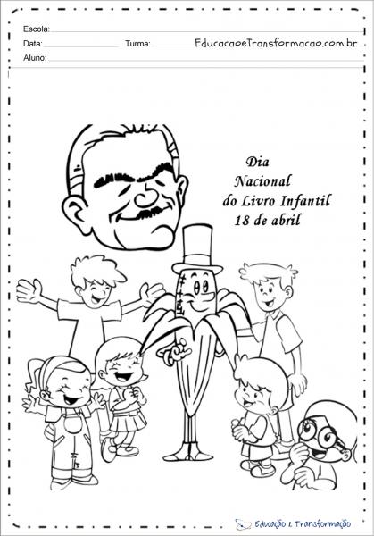 Atividades Dia Do Livro Educação Infantil Para Imprimir E Colorir