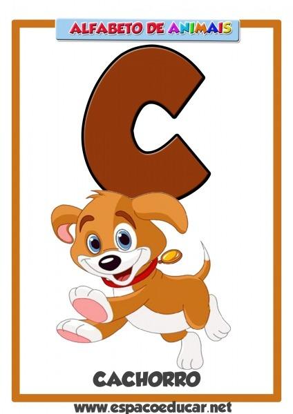 Alfabeto De Animais Grátis Para Você Imprimir! Letra C, De