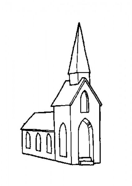 Desenho De Igreja Evangelica Para Colorir – Pampekids Net